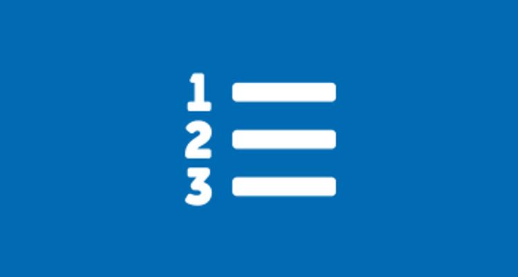 Numeric List icon