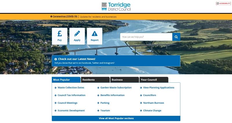 Torridge District Council's new website